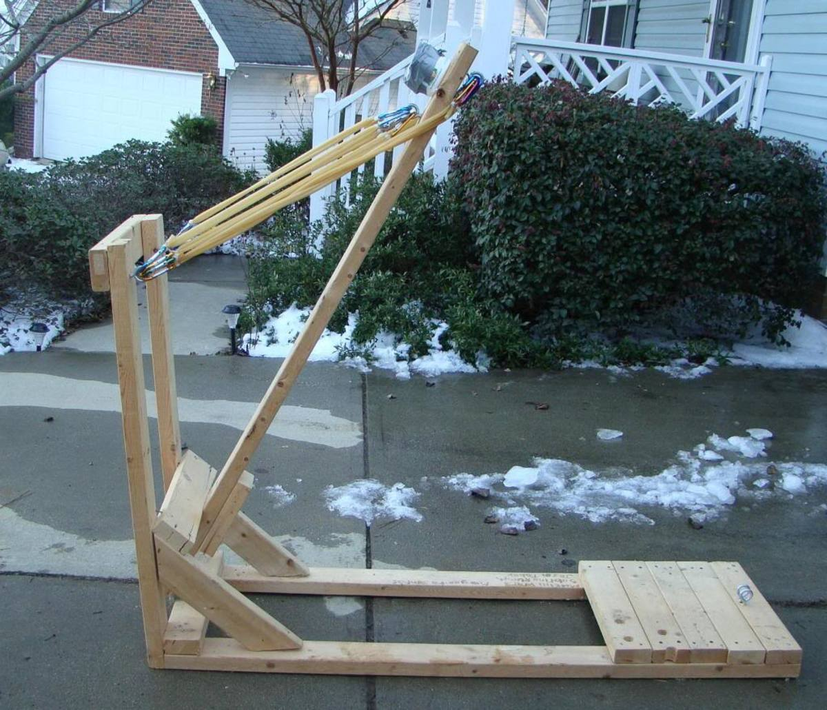 how to make a small homemade catapult
