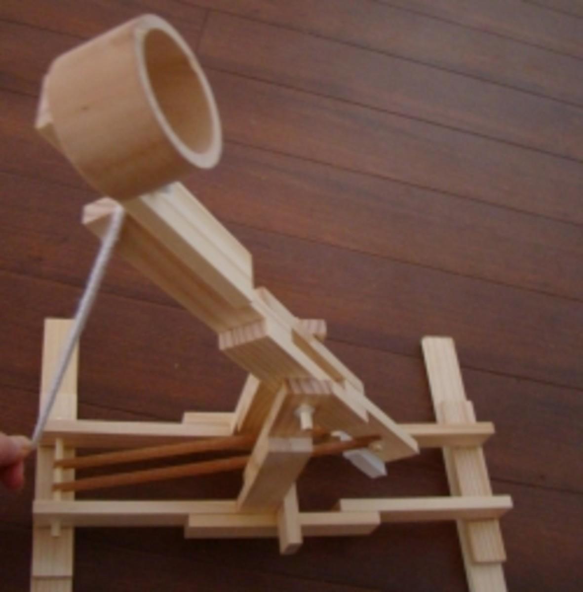 Homemade catapult from kit