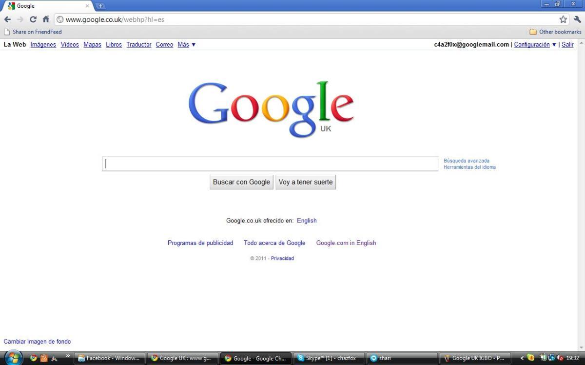 Google UK in Spanish (Espanol)