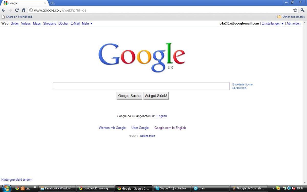 Google UK in German (Deutsch)