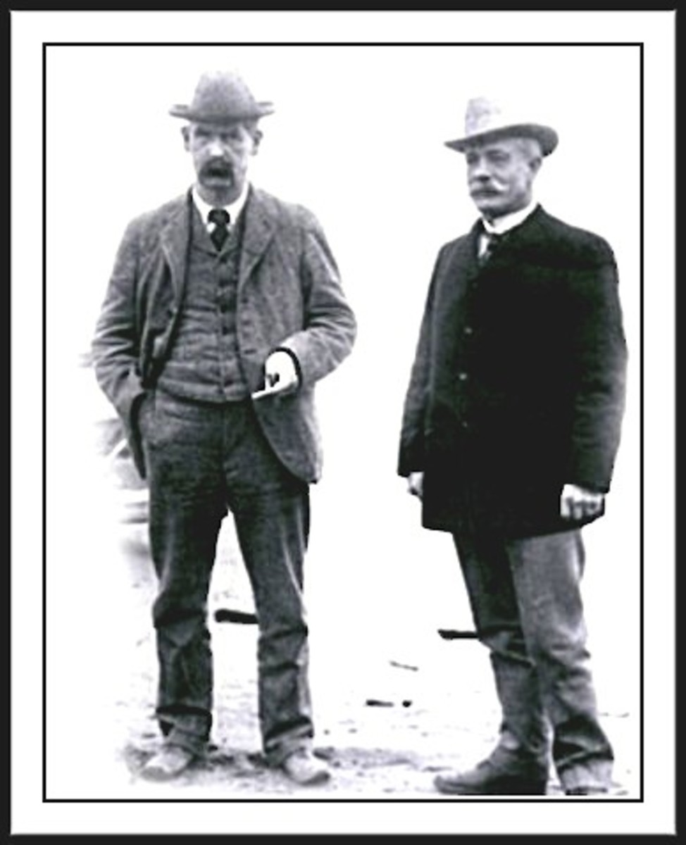 WYATT EARP, LEFT AND JOHN CLUM