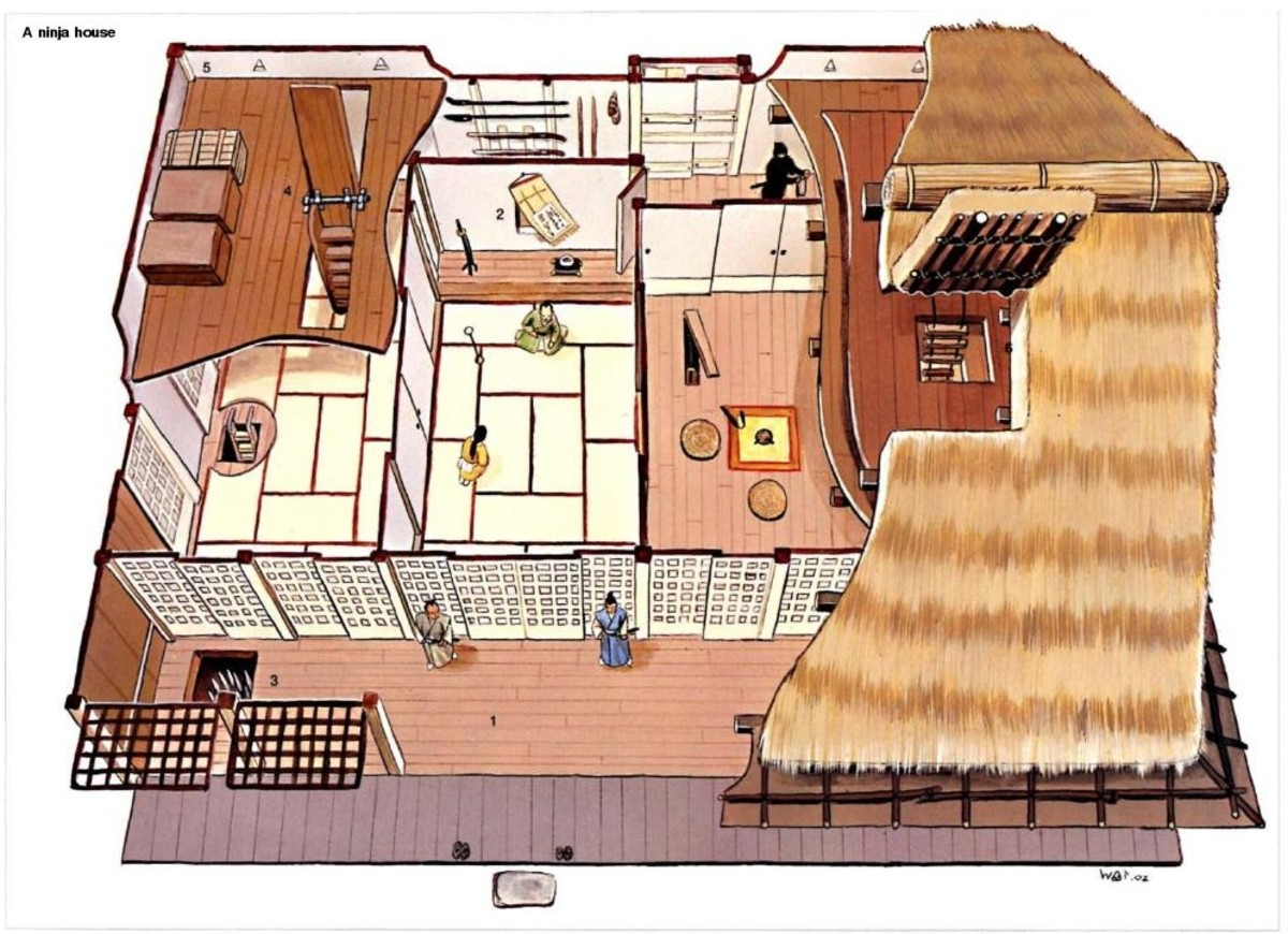 Inside The Ninja House on Traditional Japanese House Floor Plans