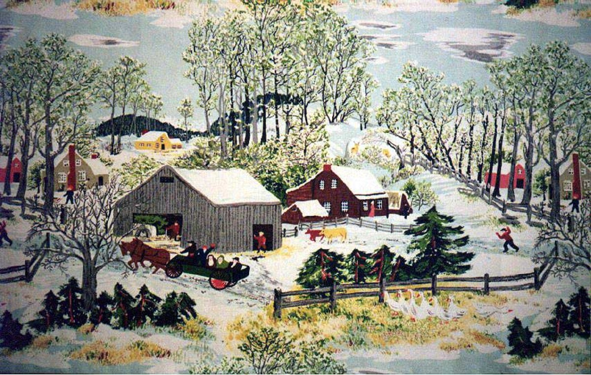 Example of her painting interpreted in fabric of the 1950s