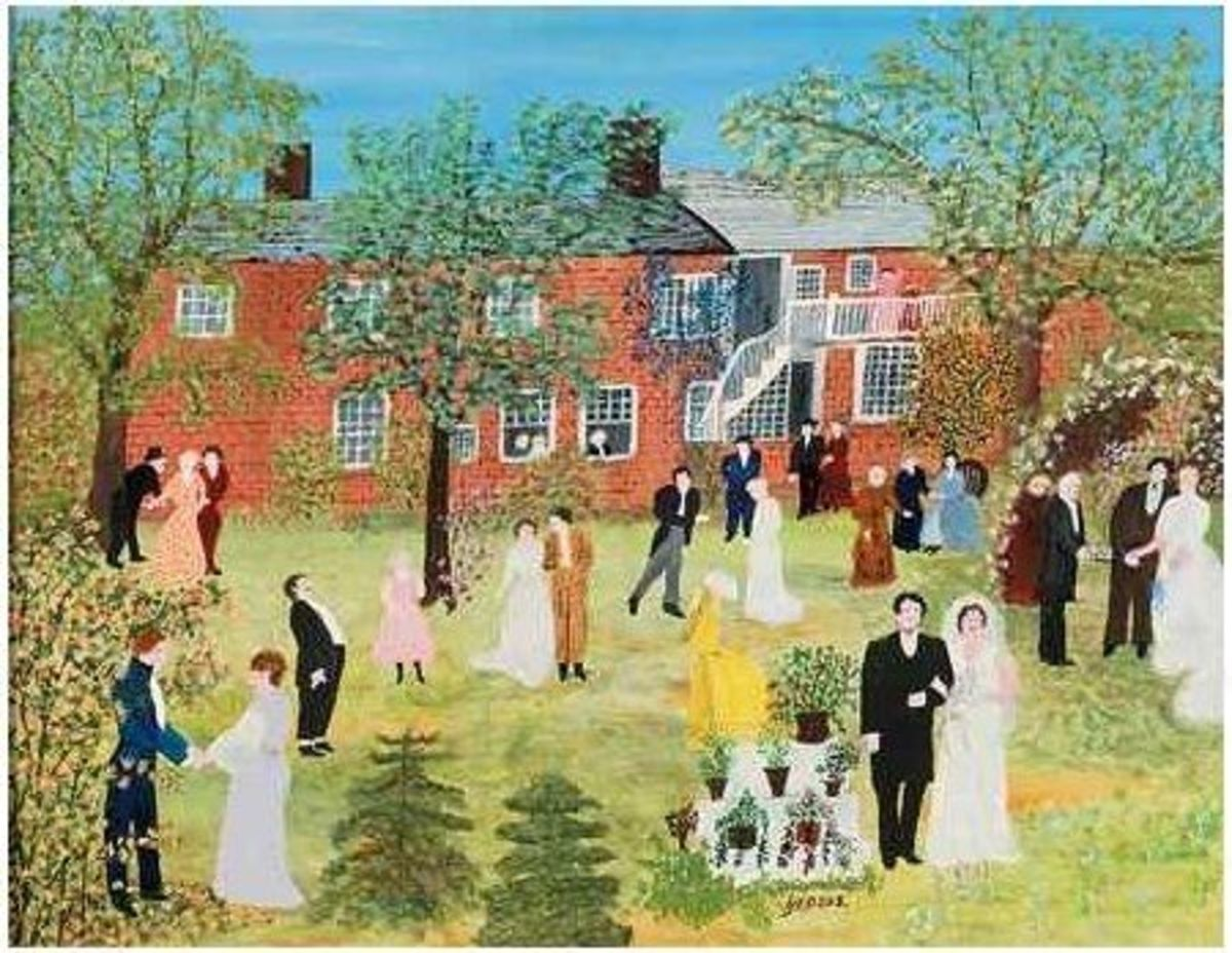 a Country Wedding - Moses painting