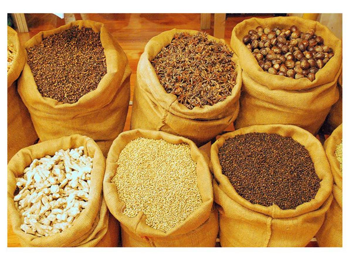 Spice is the term given to season food that are derivative from plants.  Spices have sharp odor and taste and is of much value to enhance the flavor of food.