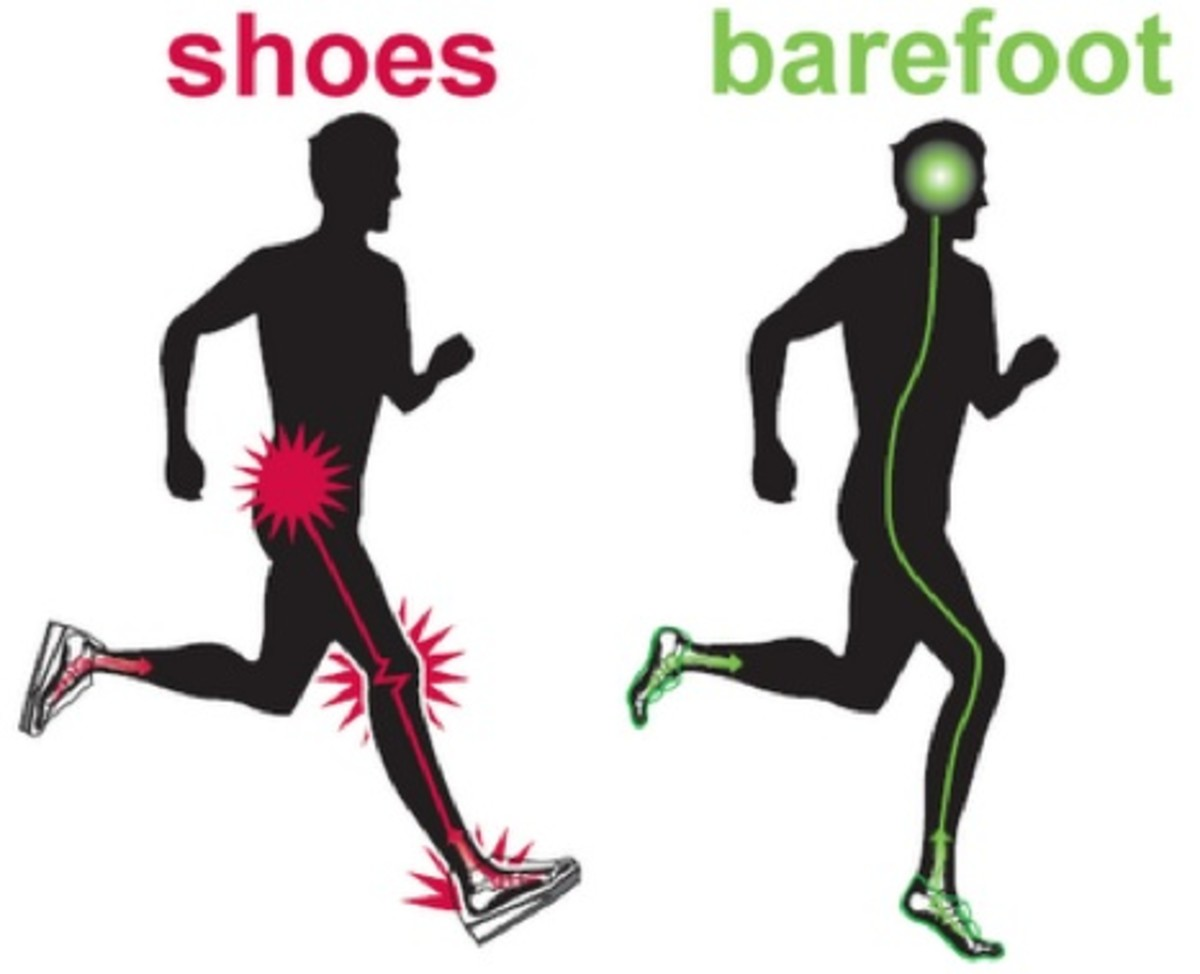 Barefoot is supposed to be superior to running shoes
