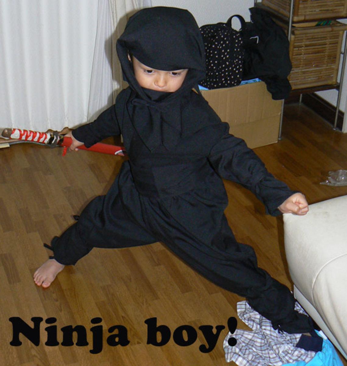 Ninjutsu training starts early