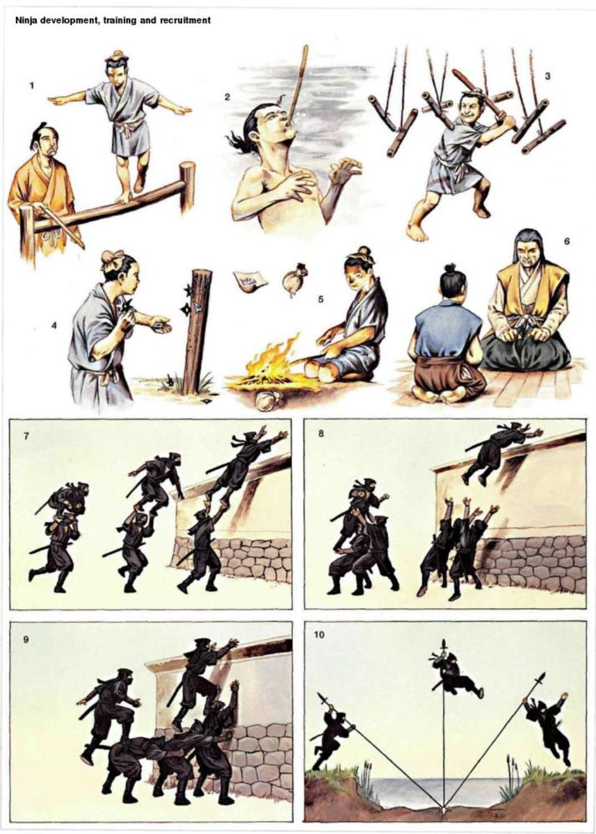 Ninja training illustrated. Click to enlarge.