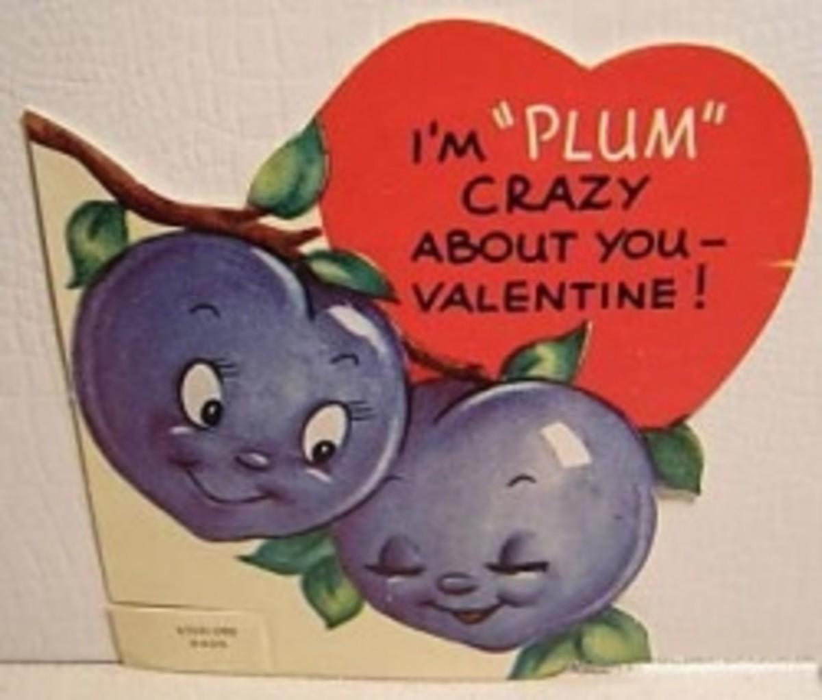 Wikimedia Vintage Valentine Art, Plum Crazy