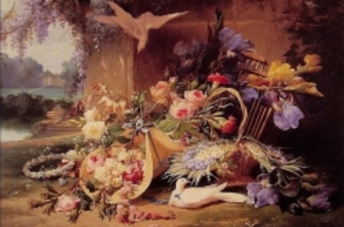 Wikimedia Flower Painting, Eugene Bidau
