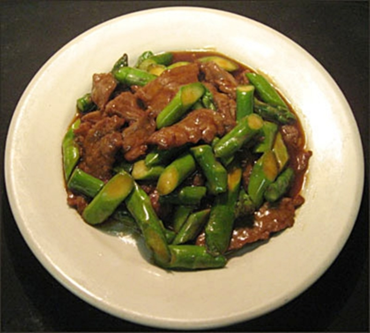 Easy Stir Fry Recipes - Beef with Asparagus in Oyster Sauce Recipe