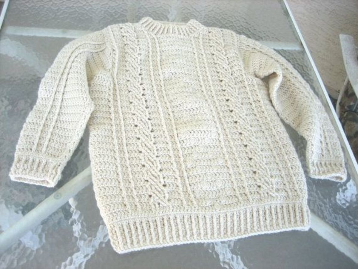 Fisherman Style Cable Stitches in Crochet