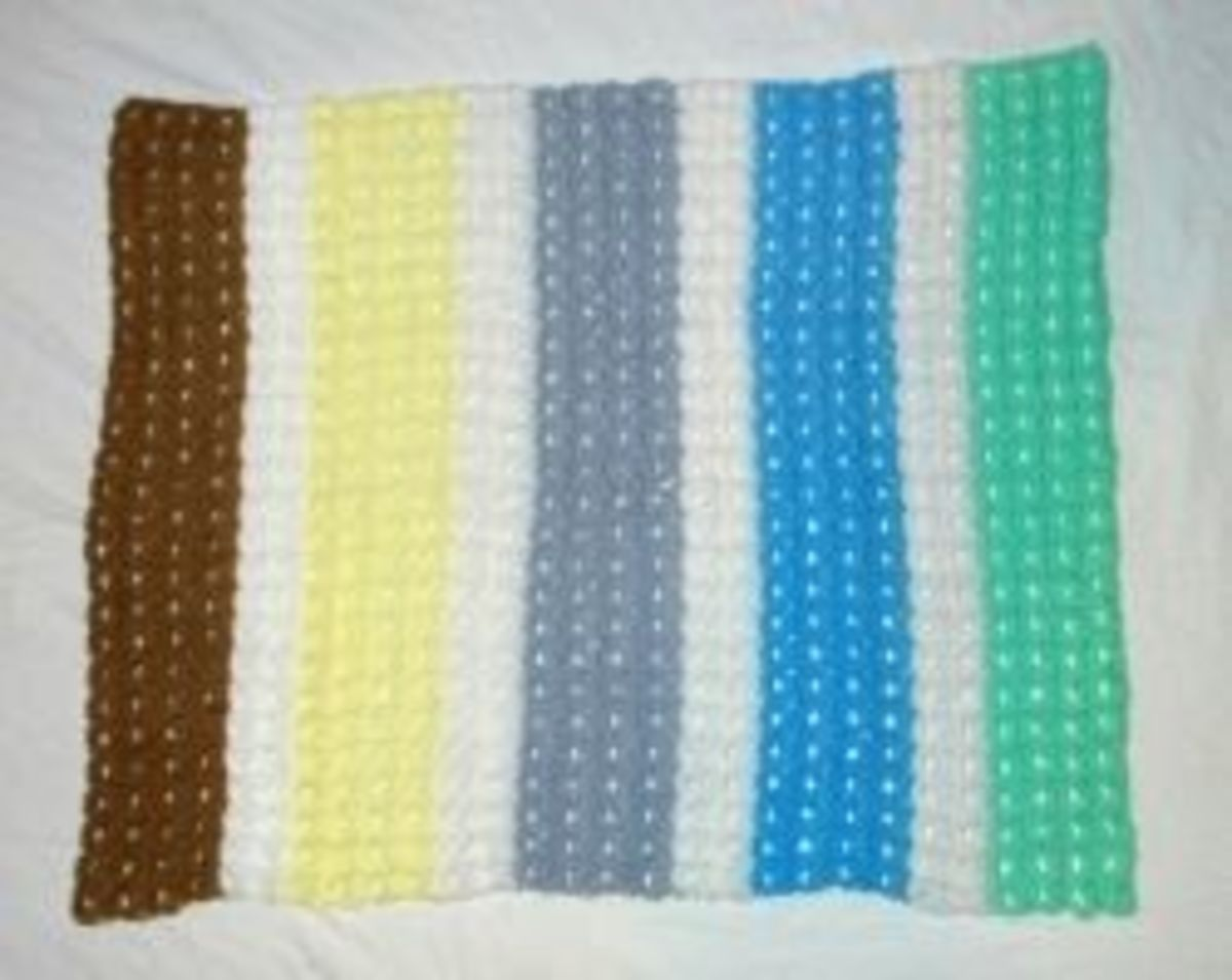 Broomstick Lace Baby Blanket