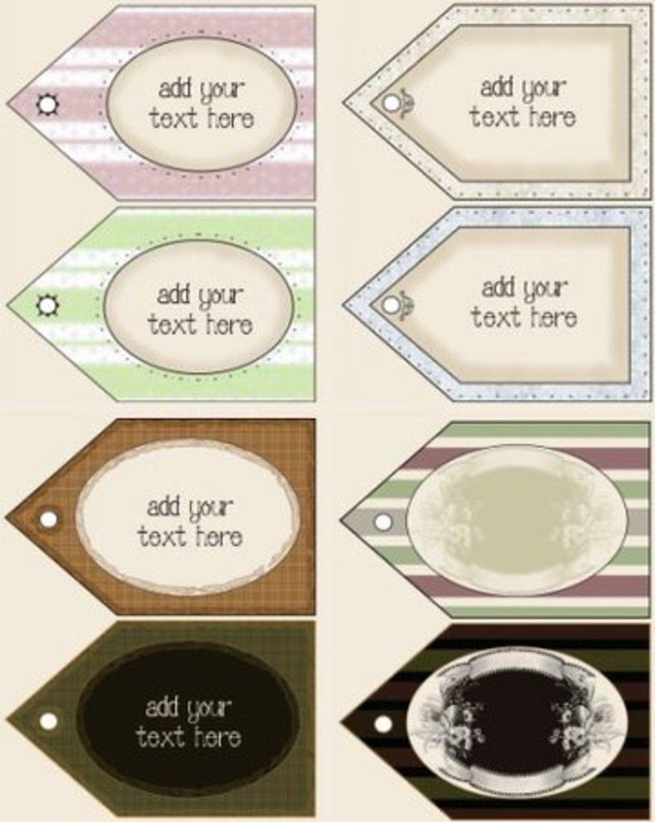 printable hang tags at MyCraft.com