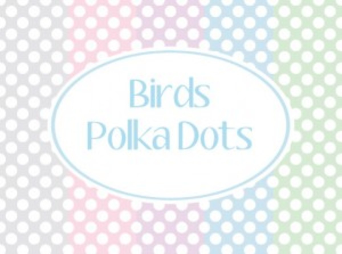small polka dots at birdscards.com
