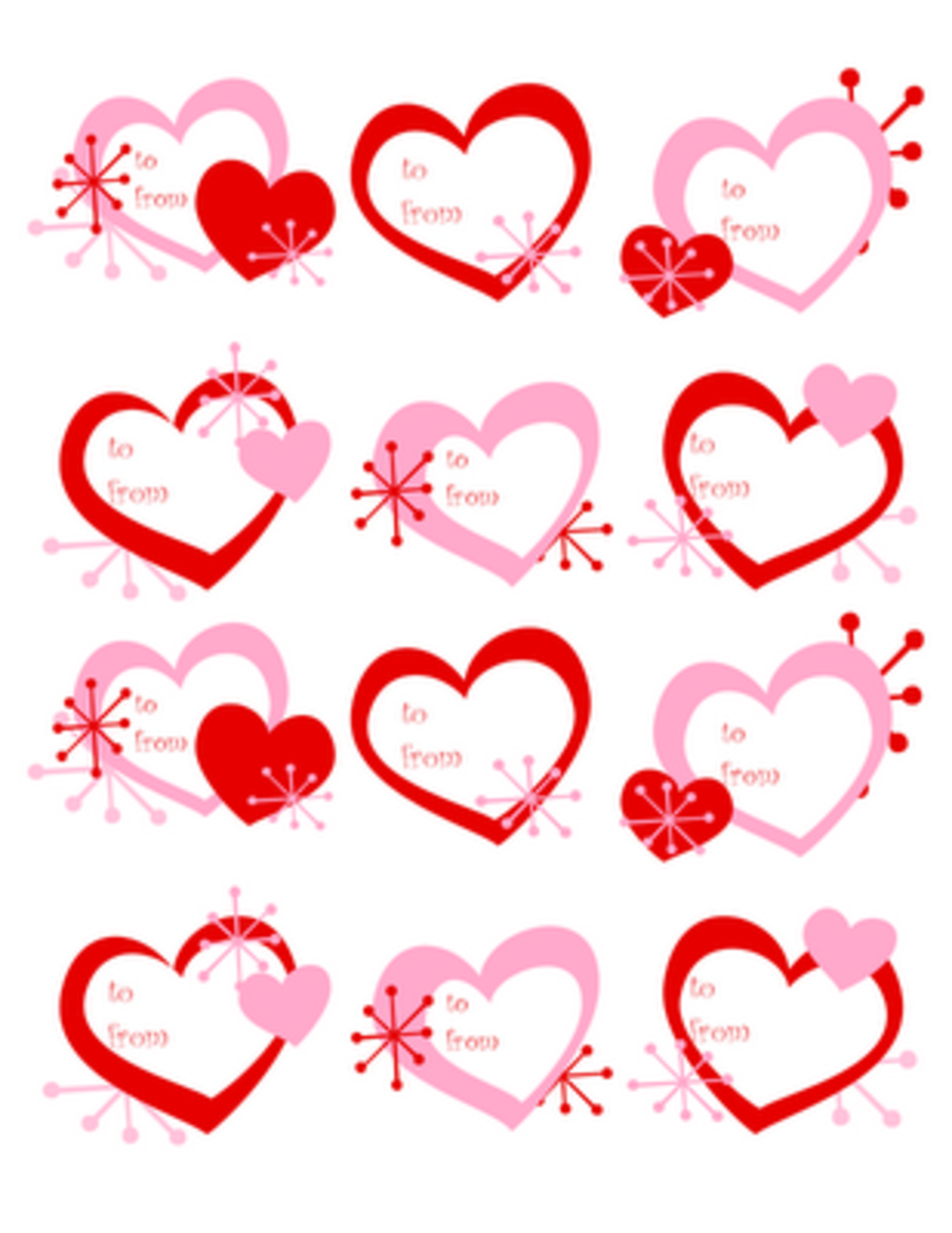 to and from Valentine's Day tags