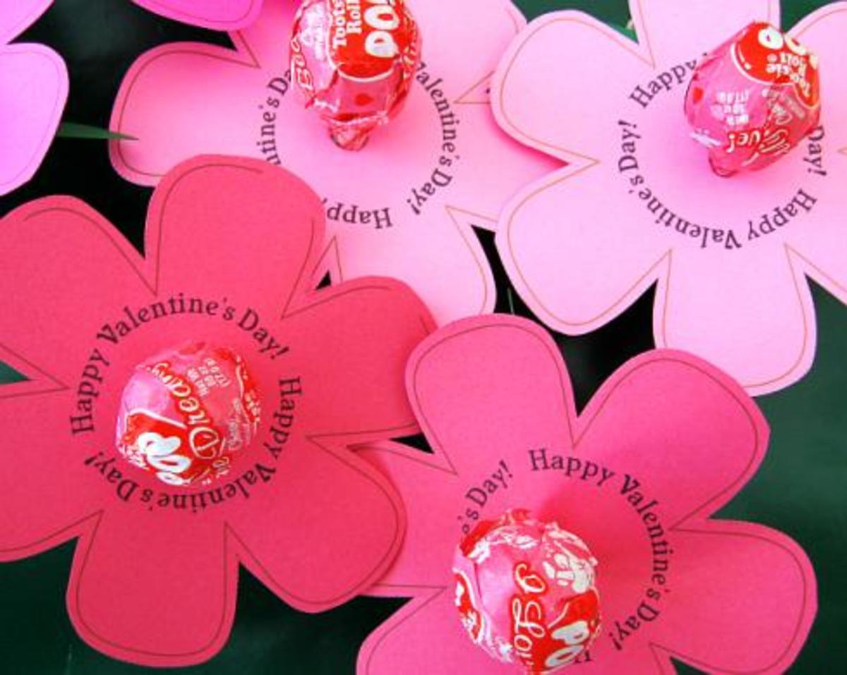 Valentine's lollipop wrappers at skip to my lou