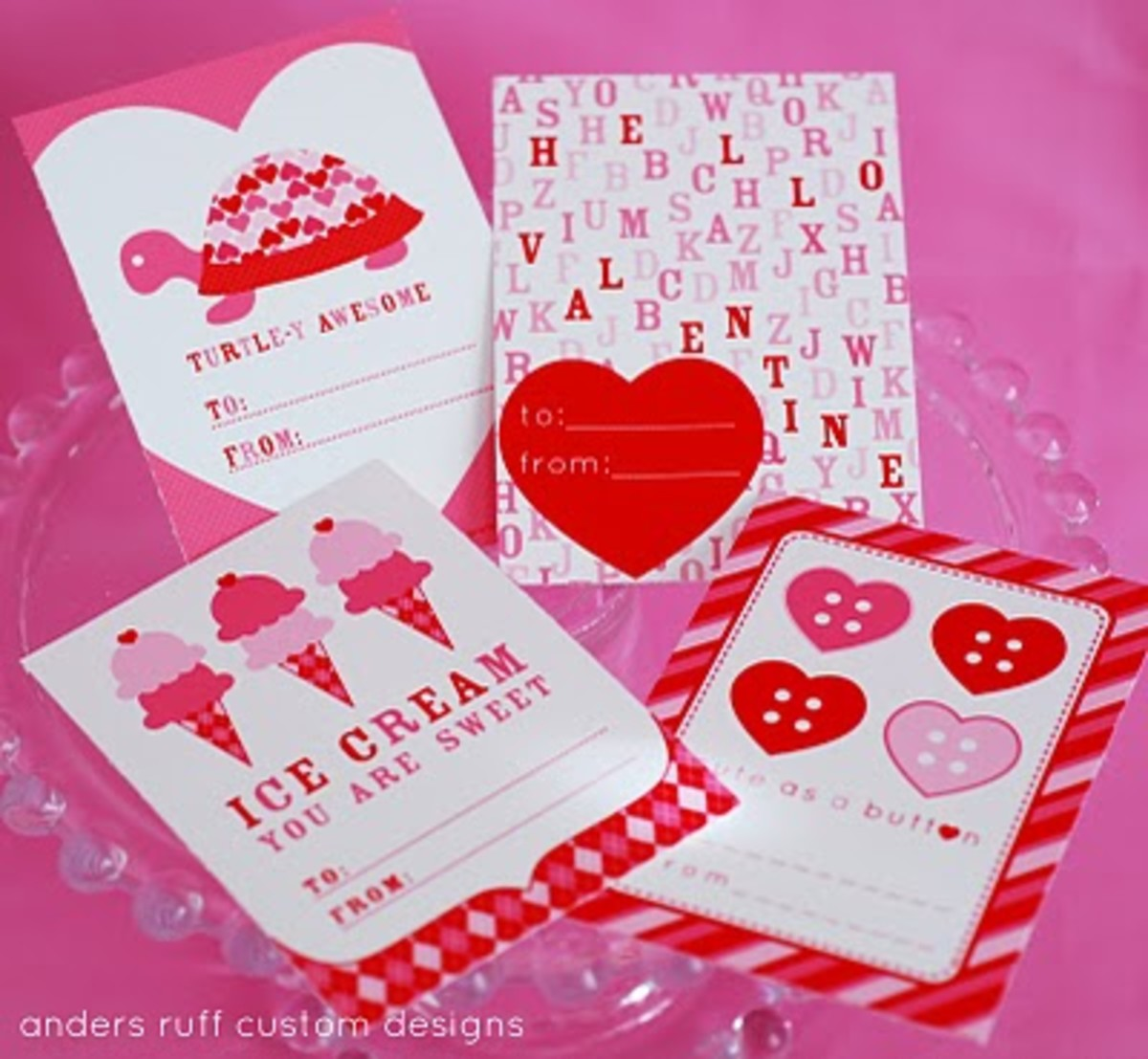 4 printable Valentine's by Anders Ruff