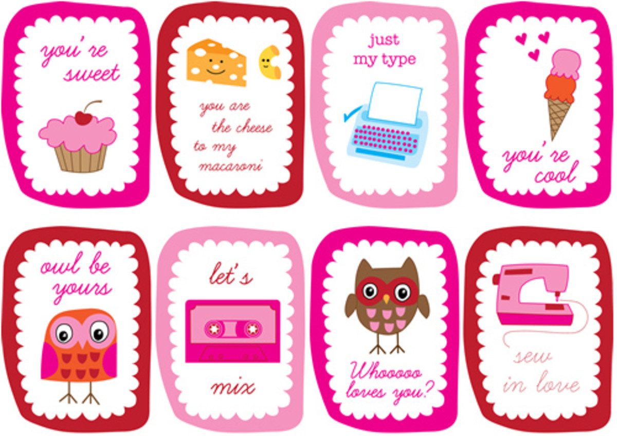 Valentine's Day cards found at Style Crush