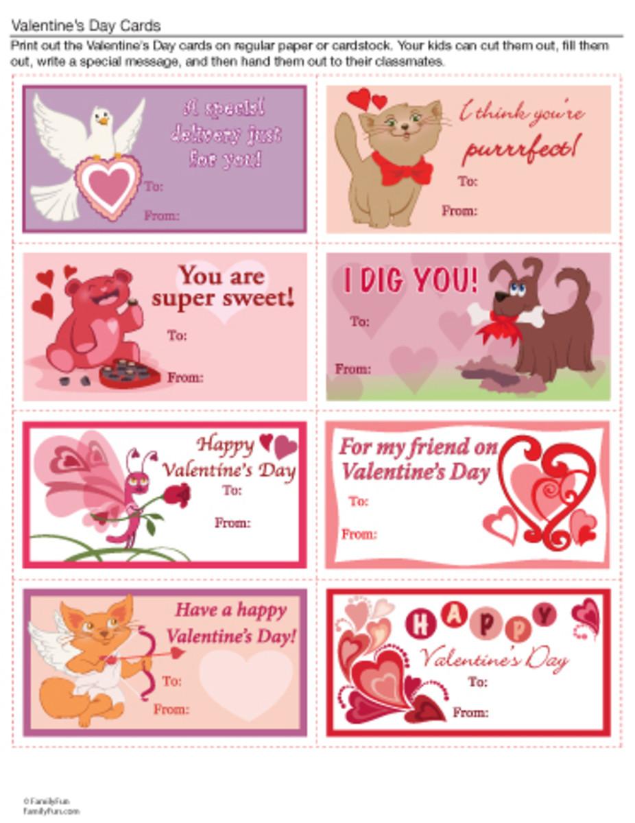 cute Valentine's Day cards at familyfun.go.com