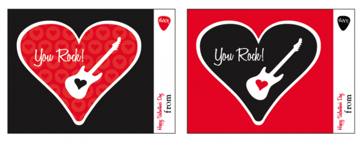 You Rock V-Day cards at Living Locurto