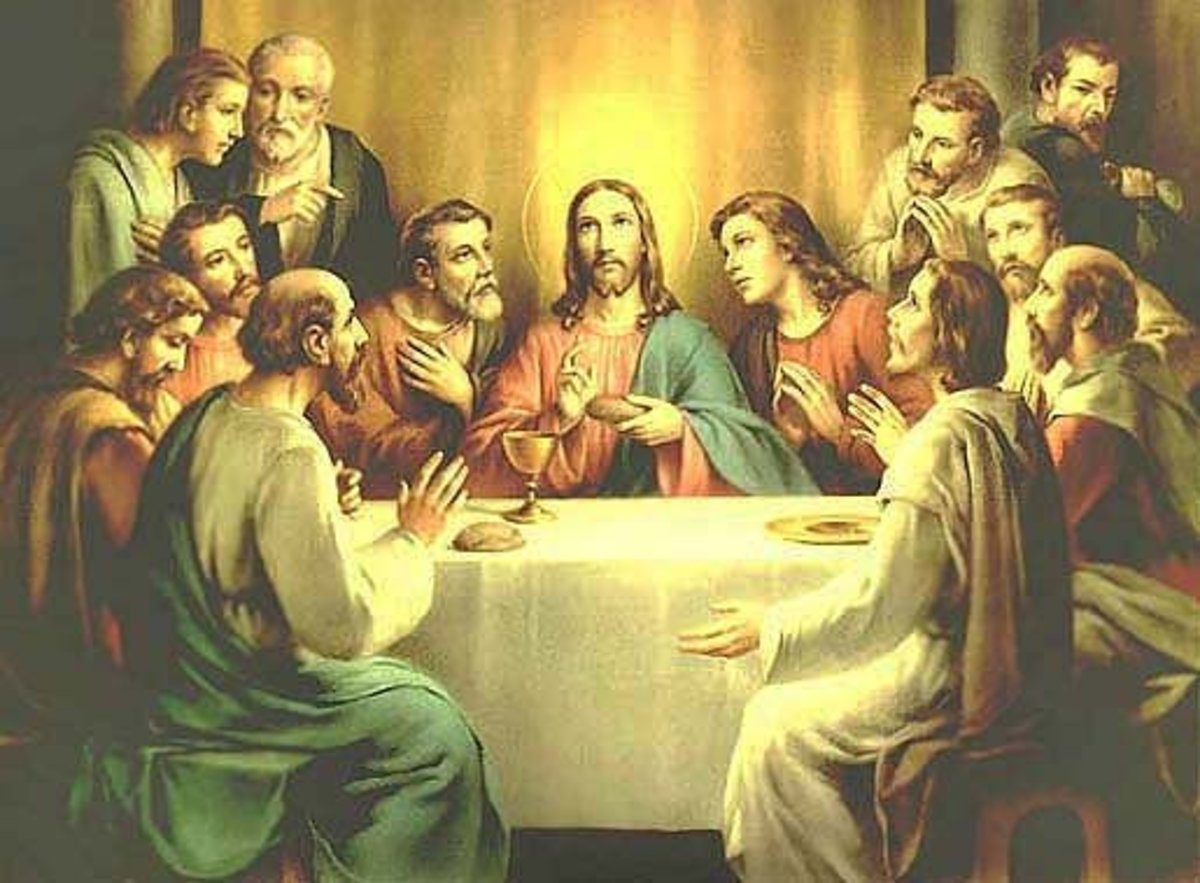 The LAST SUPPER with Jesus
