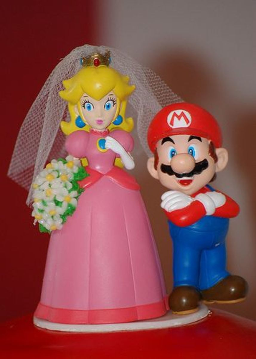Mario Wedding Cake Topper