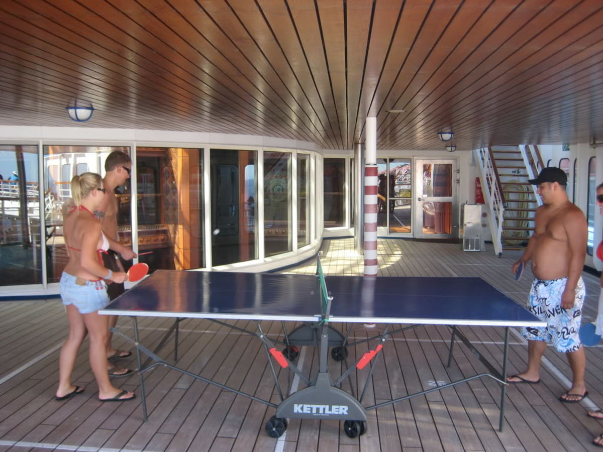 In a cruise, photo By blowitupson, source: Photobucket - Ping Pong and Table Tennis Difference, History, Fun Facts