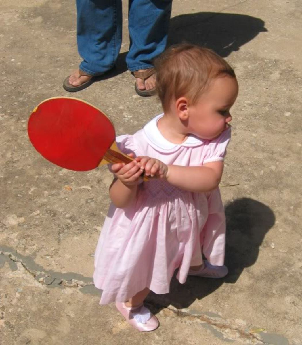 The future champ! photo By amanda-0616, source: Photobucket - Ping Pong and Table Tennis Difference, History, Fun Facts