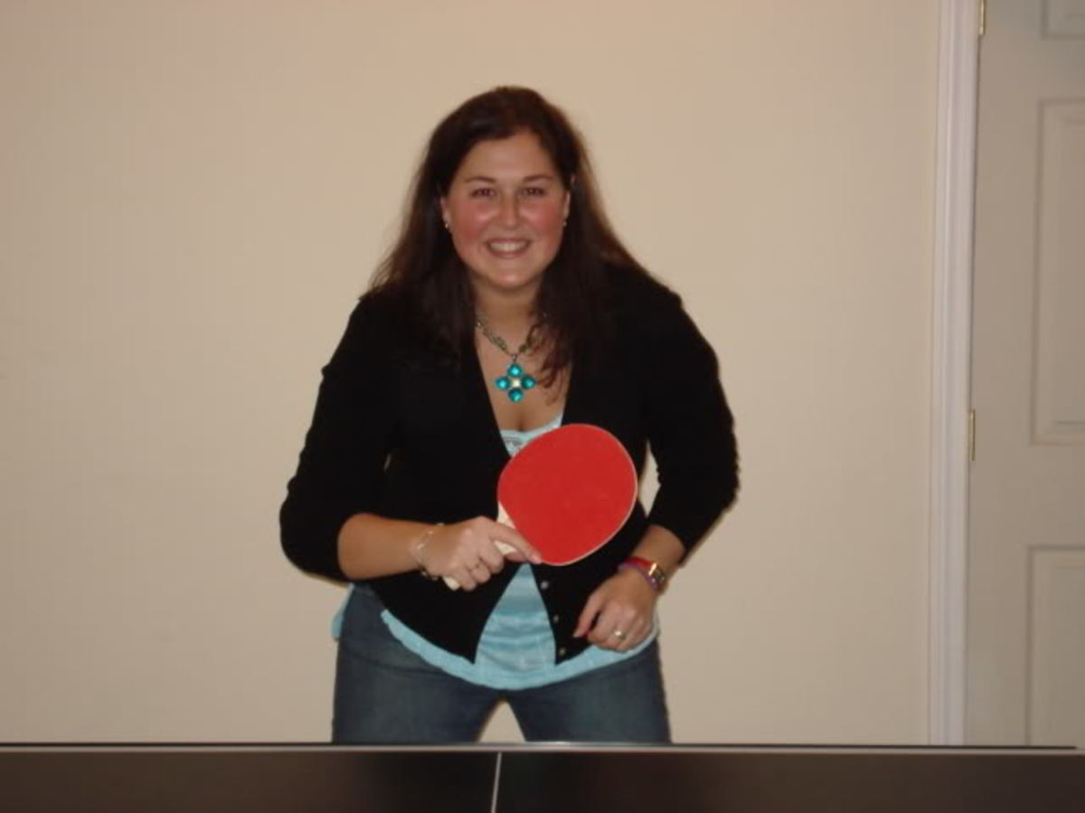 Pretty and cool - difference between men and women playing ping pong, photo By wjlevesque, source: Photobucket