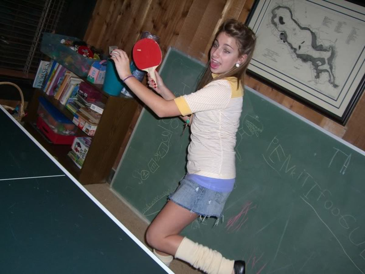 Cute and stylish - difference between men and women playing ping pong, photo By lovely12345_2007, source: Photobucket