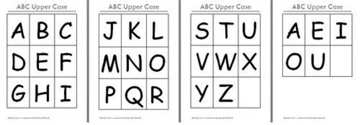 graphic regarding Abc Cards Printable identified as No cost Printable Alphabet Flash Playing cards HubPages
