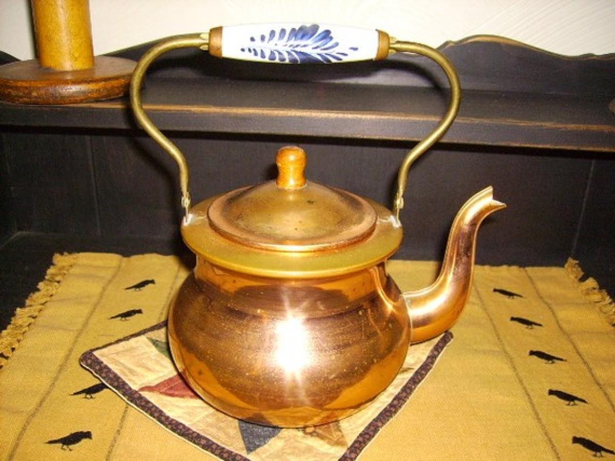 Brass Tea kettle found on etsy.