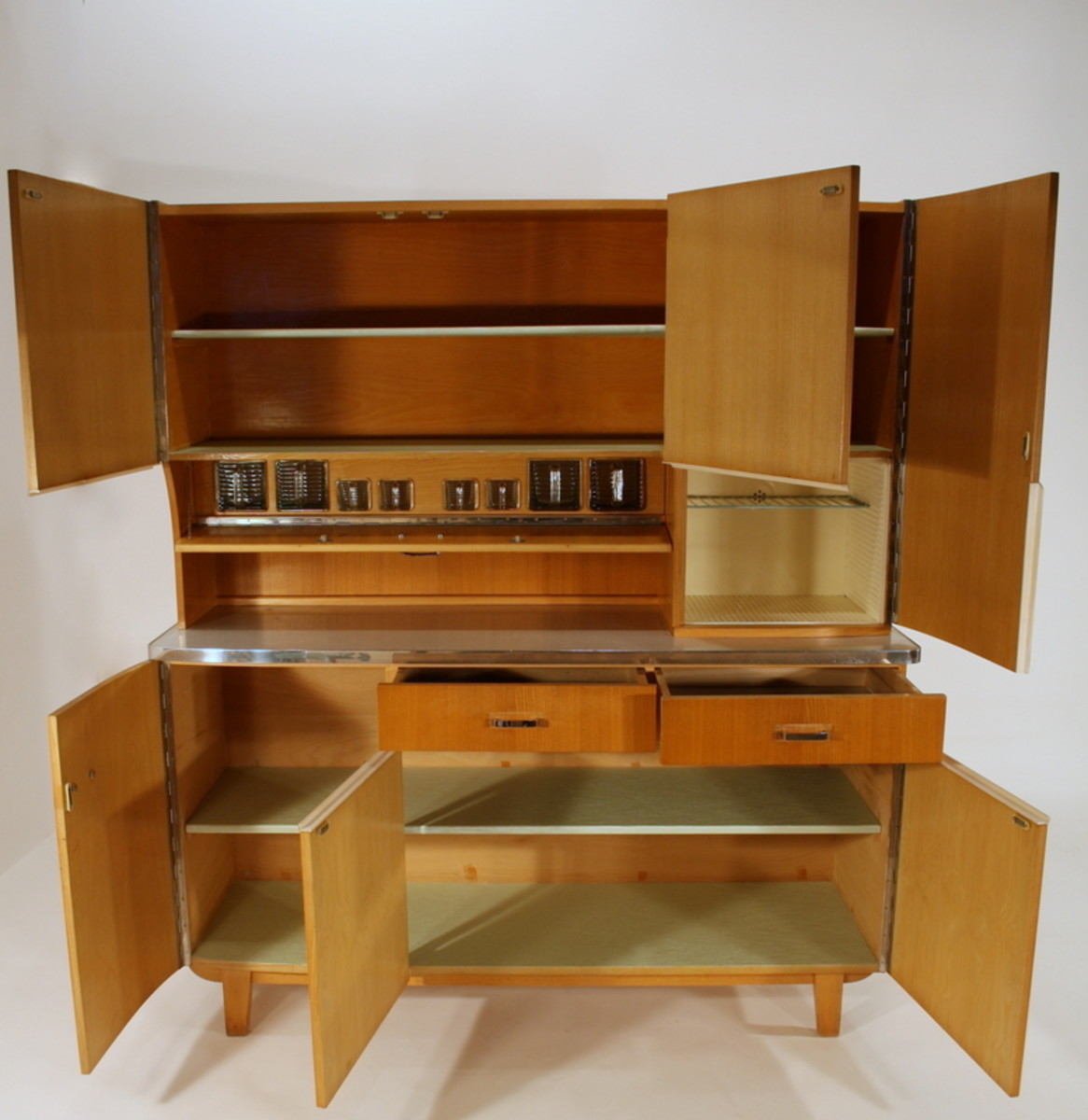 Vintage 1950s wood cabinetry on ebay for $1450.