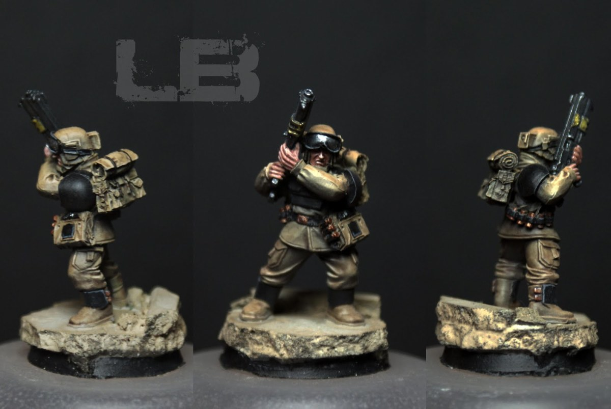 Miniature painted by Les Bursley