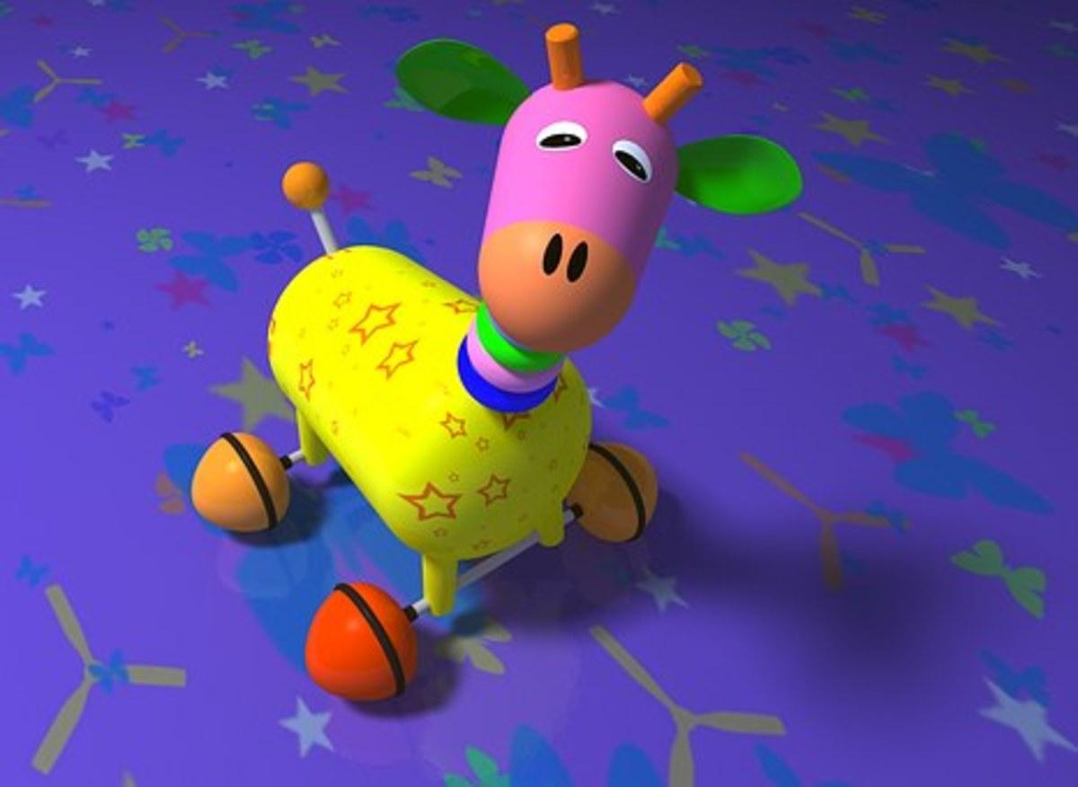 Giraffe on skates