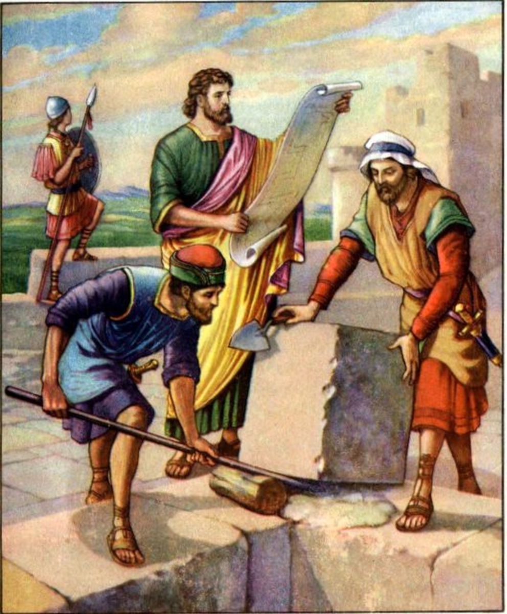Nehemiah Supervises Rebuilding of Jerusalem Wall
