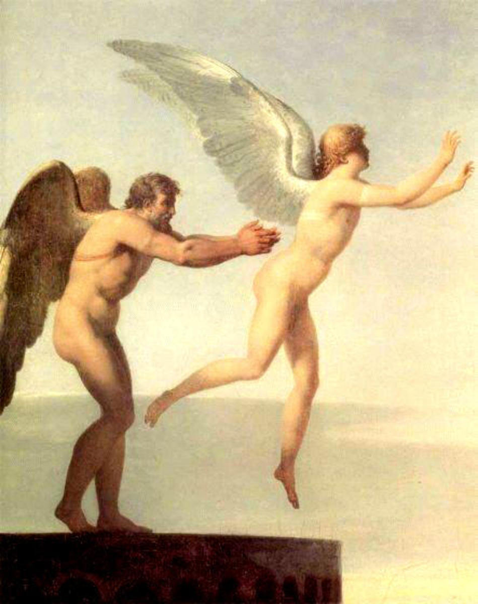 Icarus and Daedalus: Go on son!
