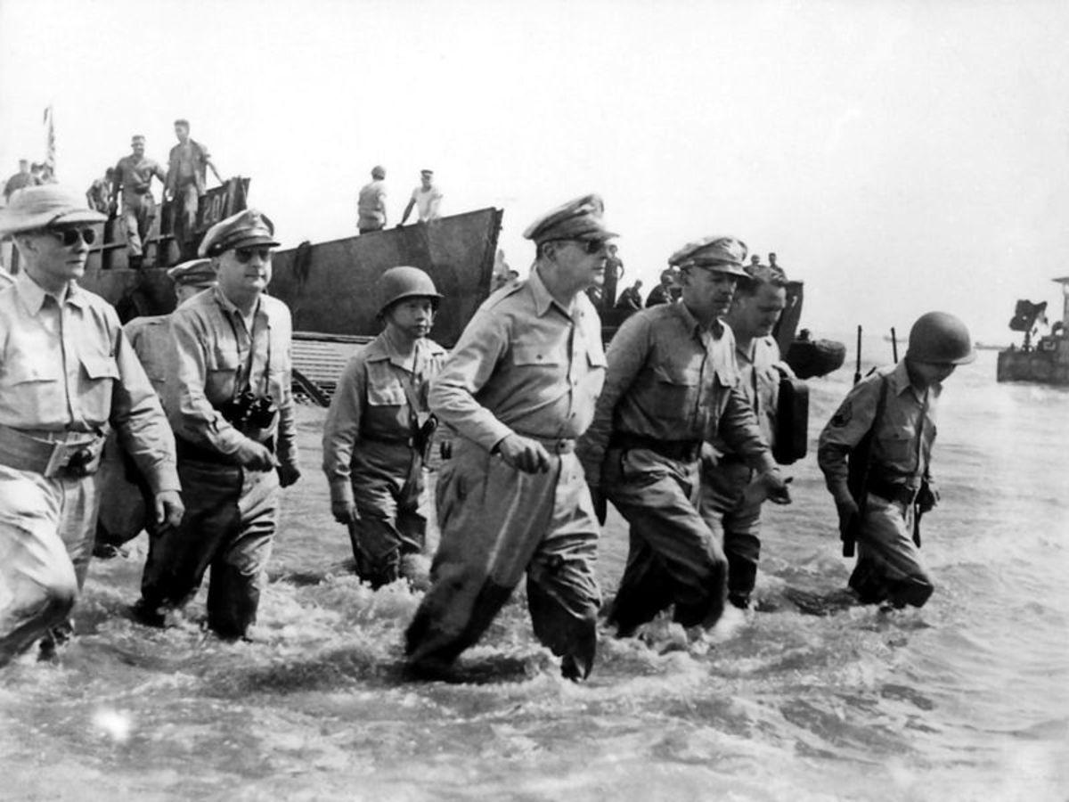 General MacArthur triumphant return!