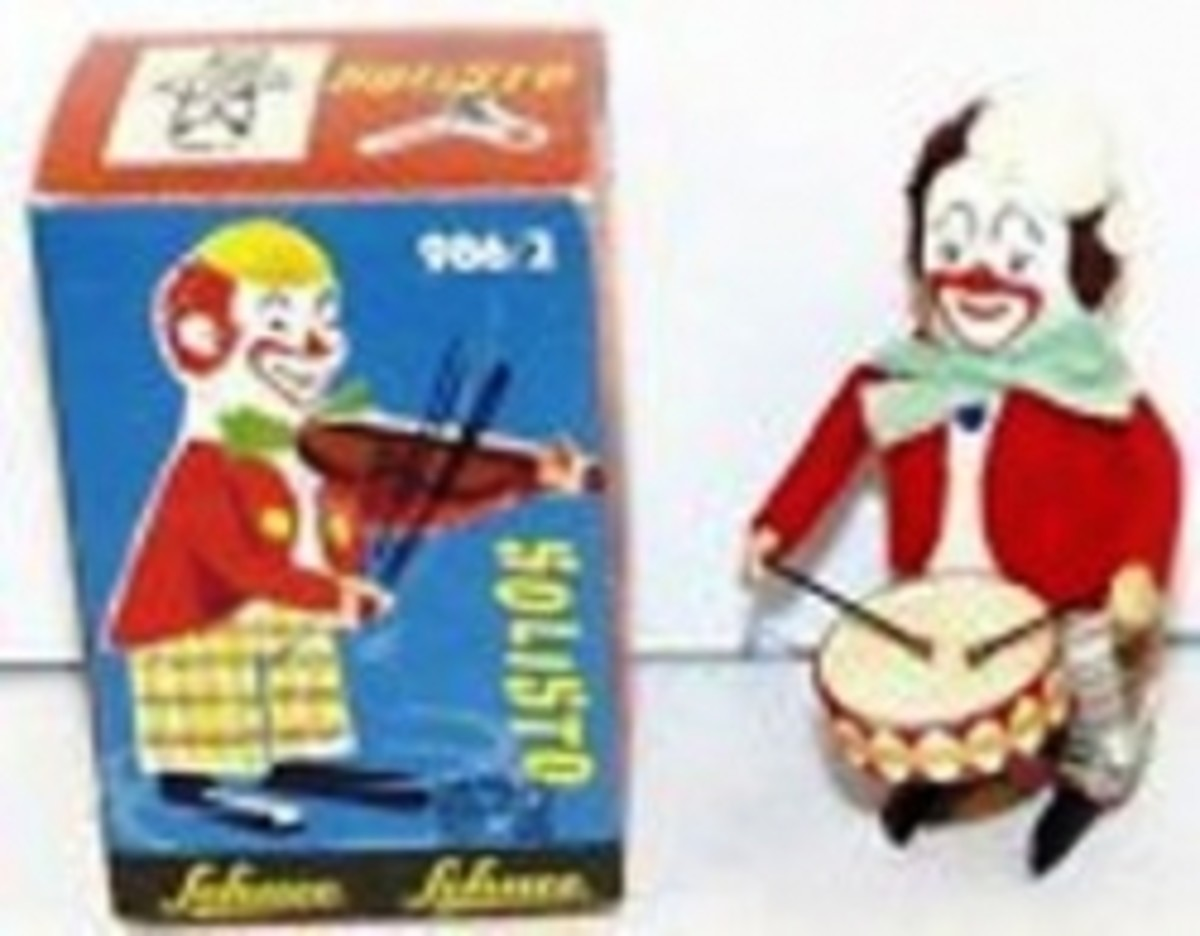 Schuco Clown Drummer Toy