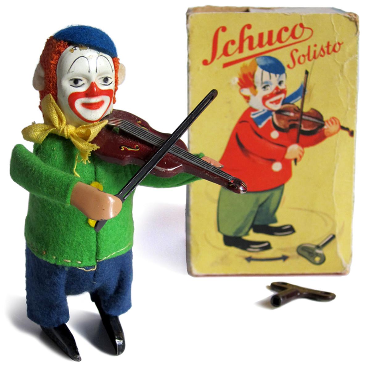 Rare Vintage Schuco Clown Toys