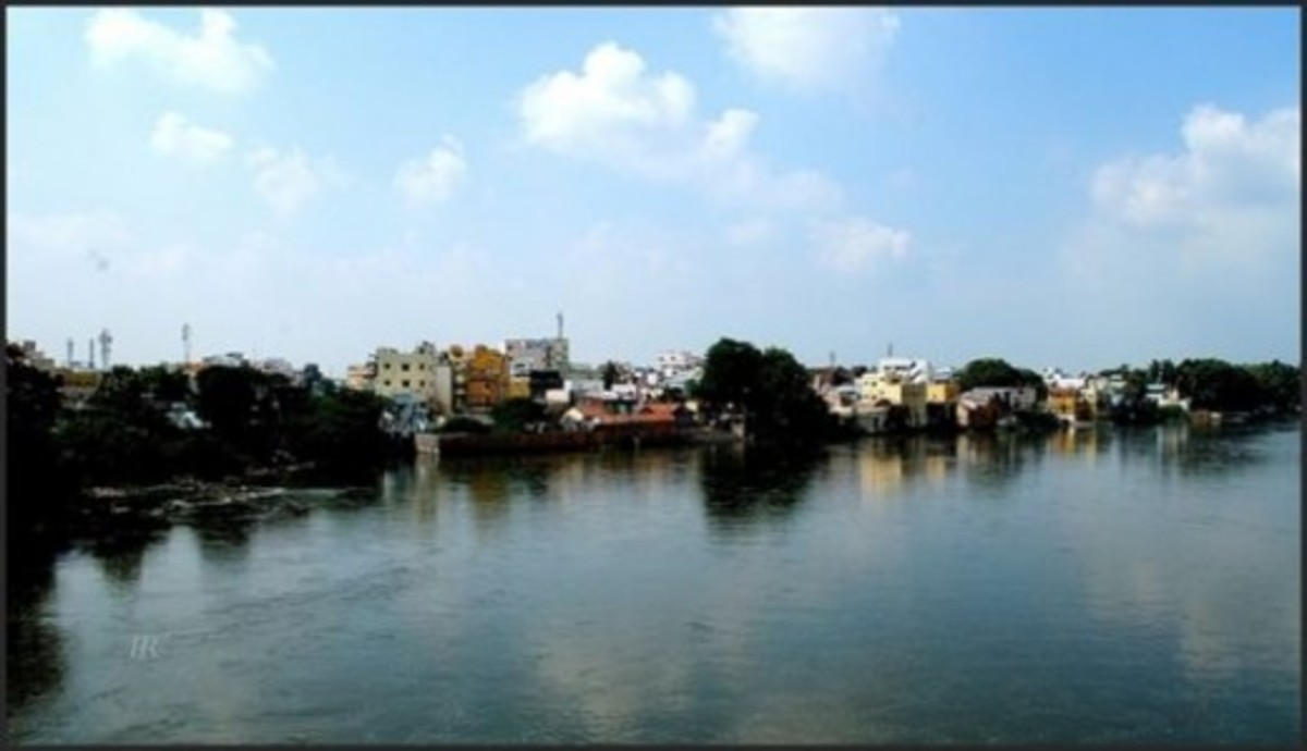 Cauvery River At Trichy
