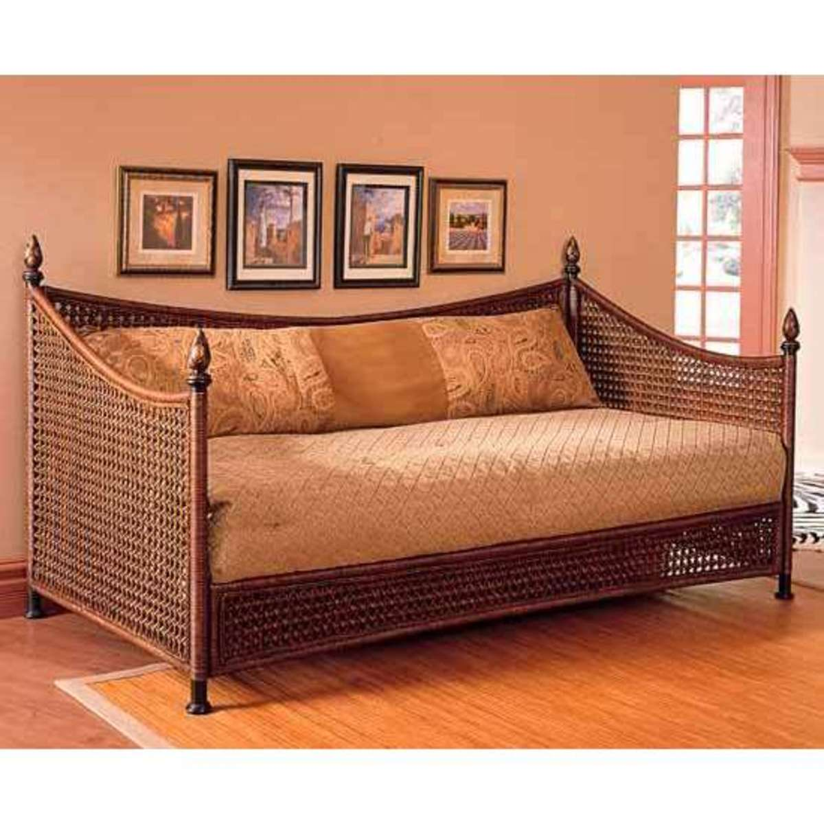 Daybed frame option in transitional wicker