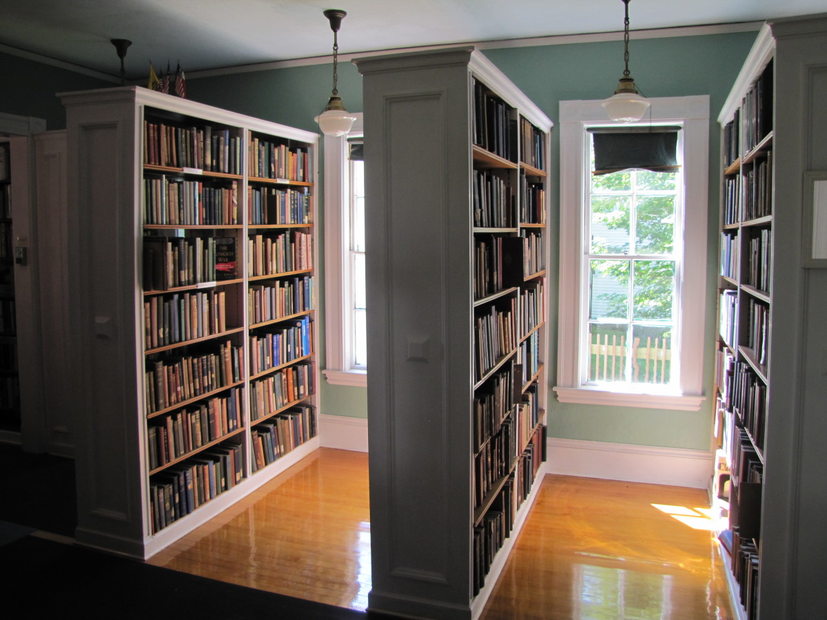 Shelving in the Wakefield Library in New Hampshire.