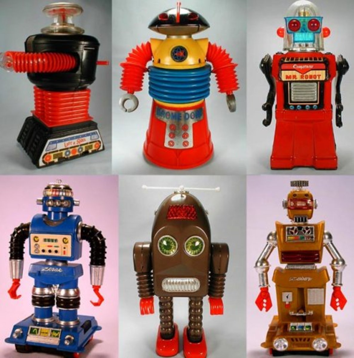 An array of vintage robots from Botropolis