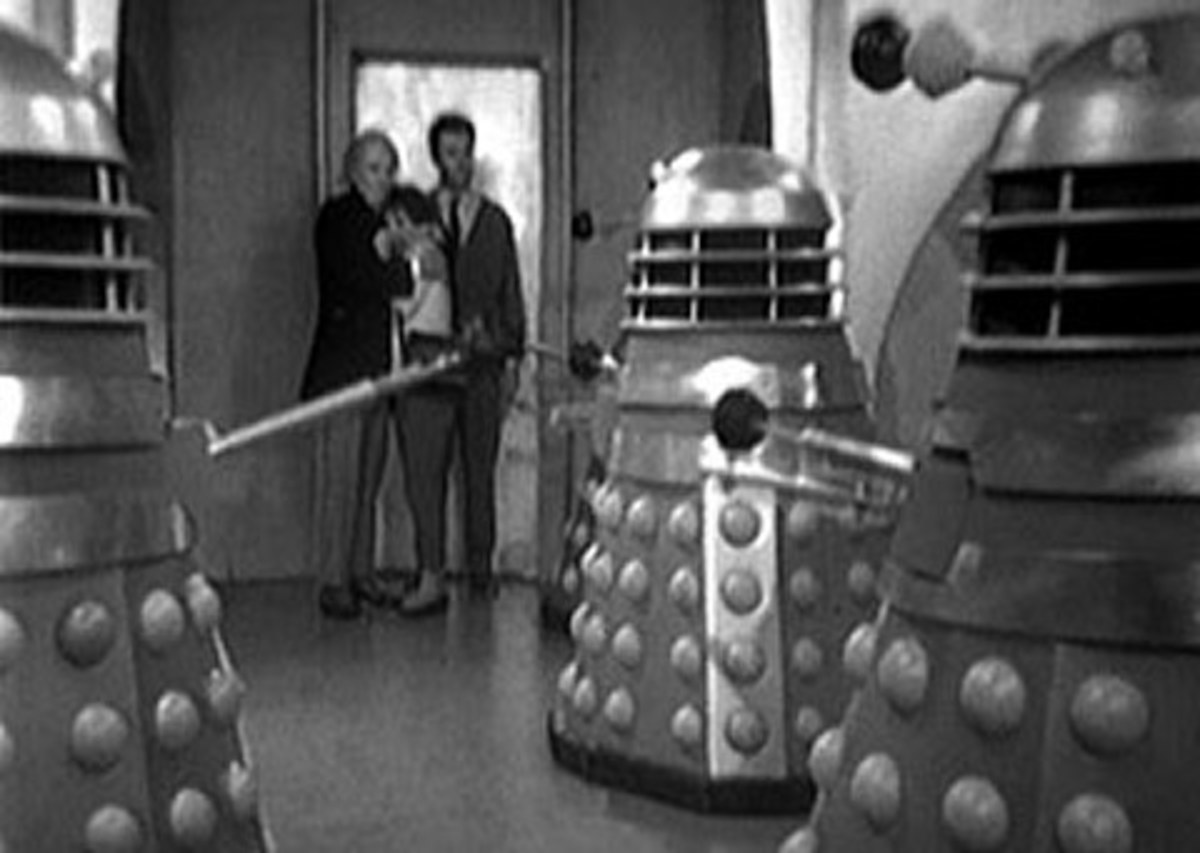 Scene fro the originl series of Dr. Who