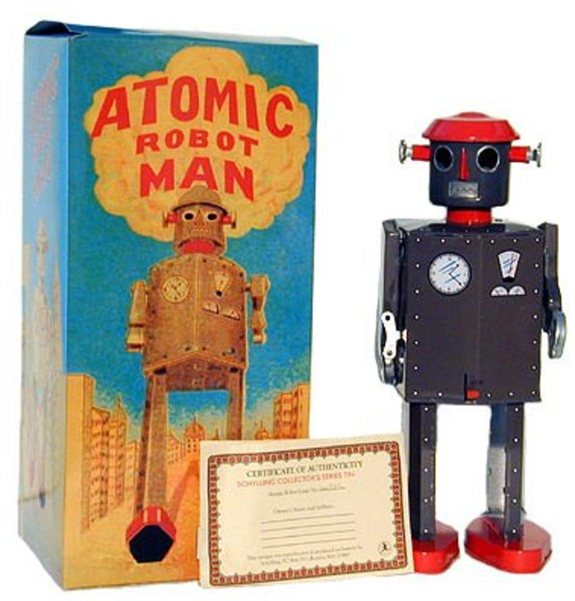 A reproduction. The original Atomic men had tan coloured bodies.