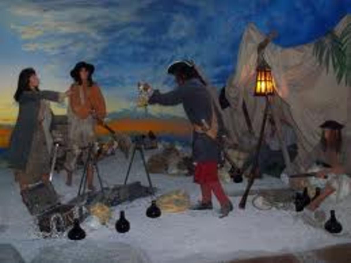 Wax pirates in Nassau Pirate Museum