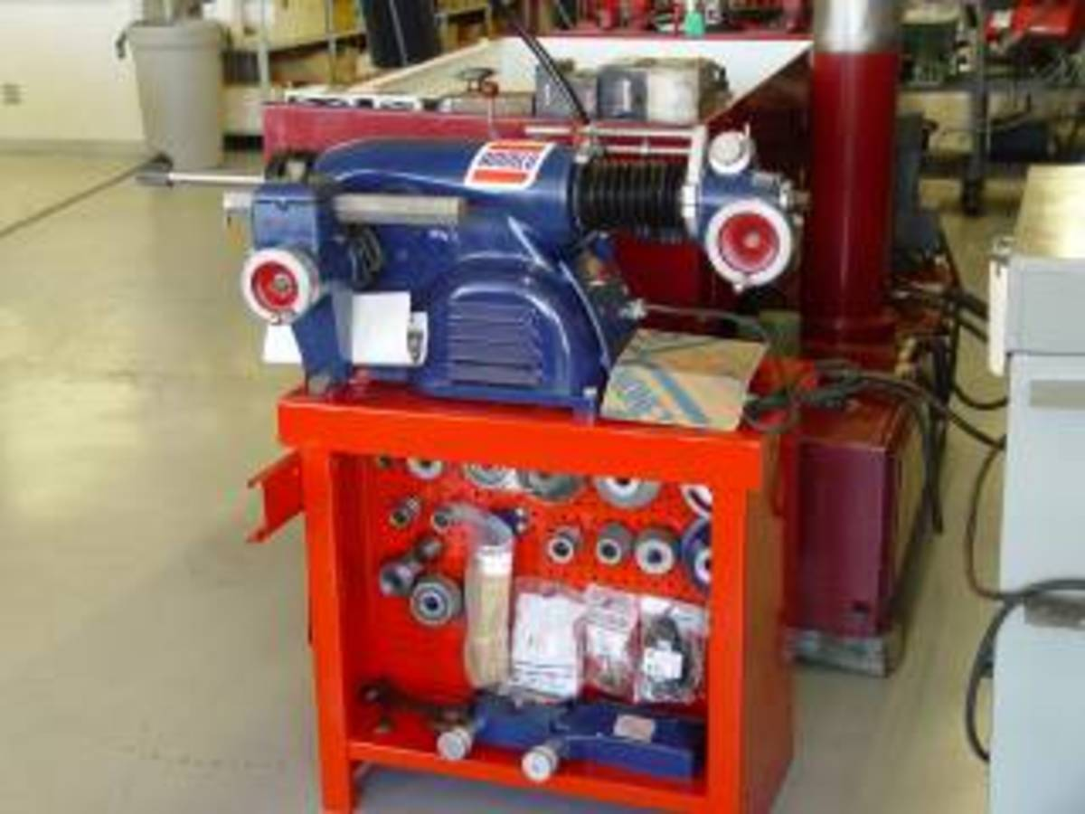 This is a 39 year old Ammco. It is in perfect condition and was sold from my auto repair equipment business after being re-furbished.