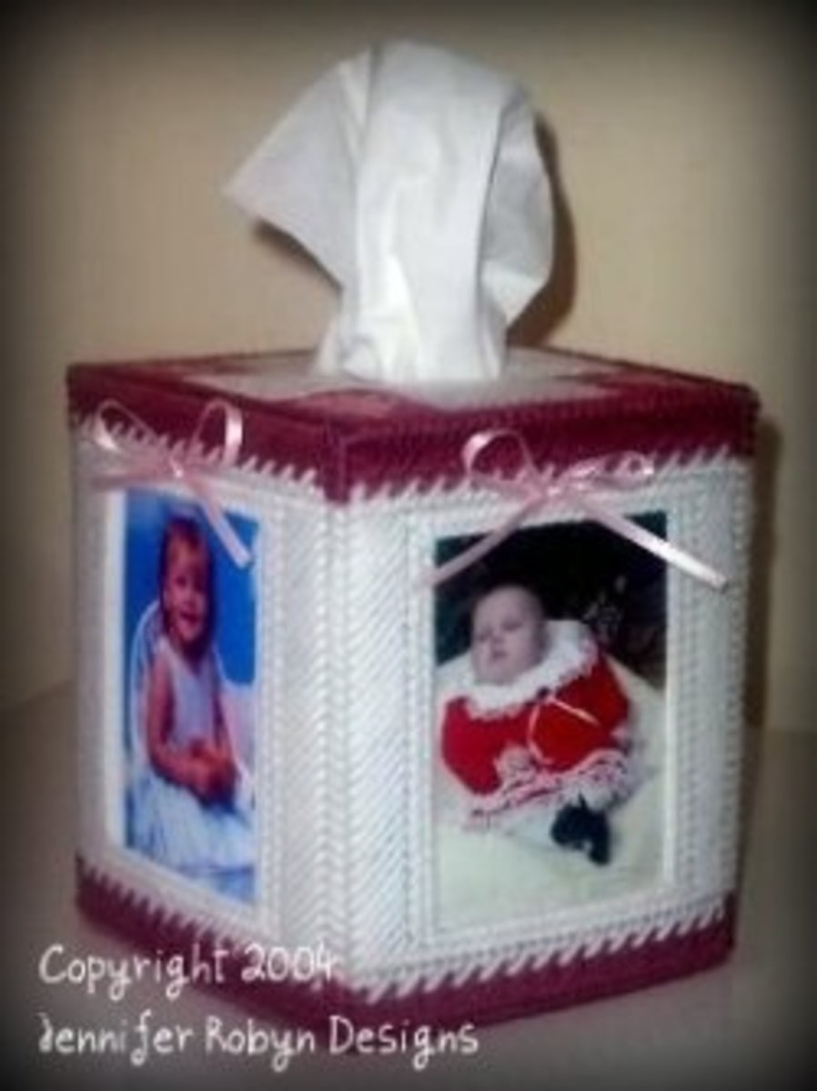 Plastic Canvas Tissue Cover Pattern - Thanks for the Memories